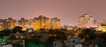 Gurgaon, India linia horyzontu Zdjęcie Stock