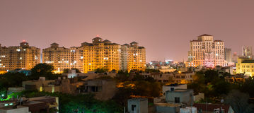 Gurgaon, India skyline. Skyscrapers in Gurgaon india. The rapid development in India is most evident in urban areas like gurgaon Stock Photo