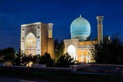 Guri Amir in Samarkand at night Royalty Free Stock Photo