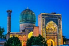 Guri Amir, un mausoleo del conquistador asi?tico Tamerl?n en Samarkand foto de archivo libre de regalías
