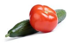 Gurka & tomat Arkivbilder