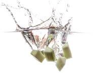 Gurke undwerwater Stockfoto