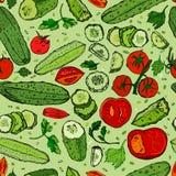 Gurken-Tomaten-Muster 01 A Lizenzfreie Stockfotos