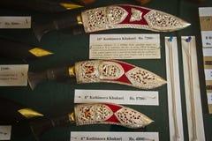 Gurkha knives, Gurkha Memorial Museum, Pokhara, Nepal. Stock Image