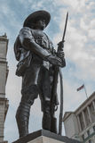 Gurkha Memorial, London. The memorial to the Gurkha Regiments who have served and continue to serve as part of the British Army in every kind of conflict. It Royalty Free Stock Images
