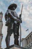 Gurkhaminnesmärke, London royaltyfria bilder