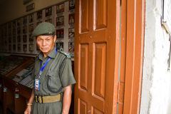 Gurkhasoldat des Erinnerungsmuseums, Pokhara, Nepal Lizenzfreies Stockfoto