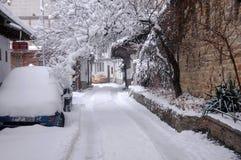 Gurko Street将军在冬天 免版税库存图片