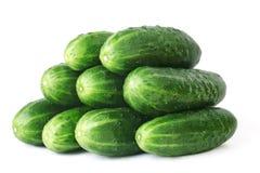 gurkor isolerade grönsaker Arkivfoto