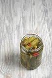 gurkor skakar inlagt Arkivbild