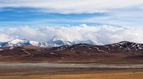 Gurla Mandhata Mountain, Tibet Royalty Free Stock Images