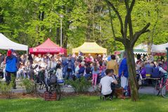 Gurman Fest 2017. Gurmán fest, the first Frýdek-Místek Festival of Good Food, Drinking and Music, was held on Saturday, May 6, in Bedřich Smetana`s orchards Stock Photography