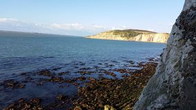 Alum bay. From the low level dea forts at the needles  2014 isle of wight Royalty Free Stock Image