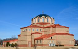Gurnee Church. This is a Winter picture of St. Demetrius Greek Orthodox Christian Church located in Gurnee, Illinois. This picture was taken on February 27, 2016 royalty free stock photos