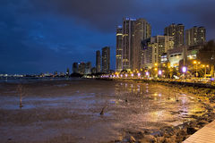 Gurney Drive Penang at Blue Hour Stock Photos