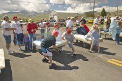 Gurney race in Lima Montana Stock Photos