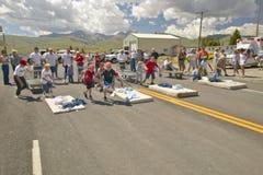 Gurney race in Lima Montana Royalty Free Stock Photography