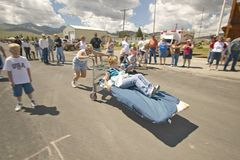 Gurney race, in Lima Montana Stock Photo