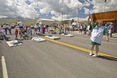 Gurney race in Lima Montana Royalty Free Stock Image