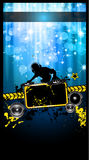 Gurnge Style Alternative Disco Flyer Stock Images