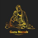 Gurpurab feliz, festival de Guru Nanak Jayanti del fondo sikh de la celebración stock de ilustración