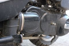 Gurtersatz-Flaschenzuggetriebe auf dem Roller ununterbrochen Wechselgetriebe u. x28; CVT& x29; lizenzfreies stockbild