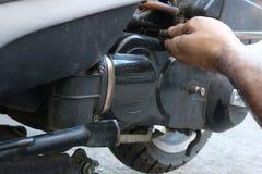 Gurtersatz-Flaschenzuggetriebe auf dem Roller ununterbrochen Wechselgetriebe u. x28; CVT& x29; stockfoto