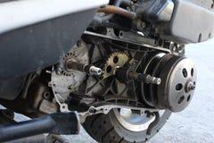 Gurtersatz-Flaschenzuggetriebe auf dem Roller ununterbrochen Wechselgetriebe u. x28; CVT& x29; lizenzfreie stockfotos
