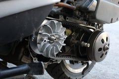 Gurtersatz-Flaschenzuggetriebe auf dem Roller ununterbrochen Wechselgetriebe u. x28; CVT& x29; stockbilder