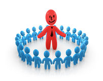 Guru. Concept of leadership and teamwork Royalty Free Stock Photography