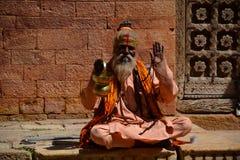 Guru indiano Jaisalmer Rajasthan India imagens de stock