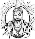 guru nanak ilustracja wektor