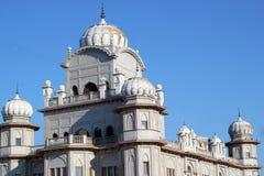 Guru Nanak Gurdwara Sikhijska świątynia, Zlany królestwo fotografia royalty free