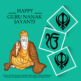 Guru Nanak Jayanti banner Royalty Free Stock Image