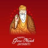 Guru Nanak Jayanti feliz Imagens de Stock Royalty Free