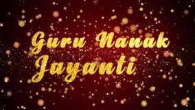 Guru Nanak Jayanti Greeting-de glanzende deeltjes van de kaarttekst voor viering, festival royalty-vrije illustratie
