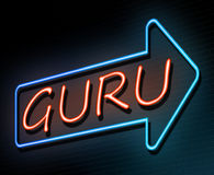 Guru neon concept. Stock Photos