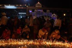 GURU PARAB AT BANGLA SAHIB GURDWARA, NEW DELHI. Guru Parabs, known as the �festival of the Gurus� are the major festivals of the Sikhs. The celebrations of Stock Photos