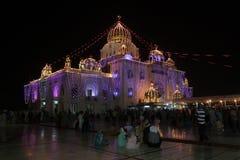 GURU PARAB AT BANGLA SAHIB GURUDWARA, NEW DELHI. Guru Parabs, known as the �festival of the Gurus� are the major festivals of the Sikhs. The celebrations of Royalty Free Stock Image