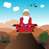 Guru on the top of a mountain Royalty Free Stock Images
