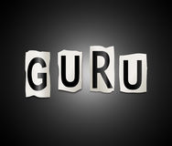 Guru word concept. Royalty Free Stock Image