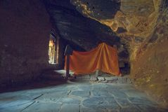 Guru Yoga cave Royalty Free Stock Photos