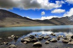 Gurudongmar湖,北部锡金,印度 免版税库存图片