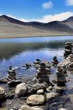 Gurudongmar湖,北部锡金,印度 库存照片