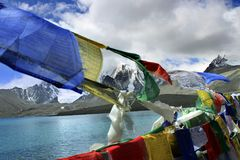 Gurudongmar湖,北部锡金,印度 免版税库存照片