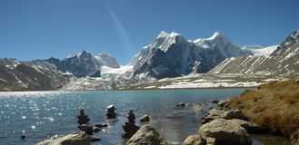 Gurudongmar lake royalty free stock images