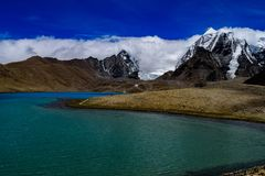Gurudongmar Lake - 2nd Highest Lake In North Sikkim stock image