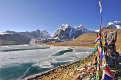 Gurudongmar Lake royalty free stock photos