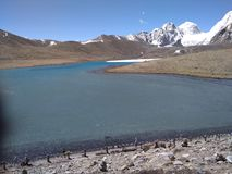 Gurudongmar lake royalty free stock image