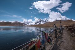 Gurudongmar Lake stock photography